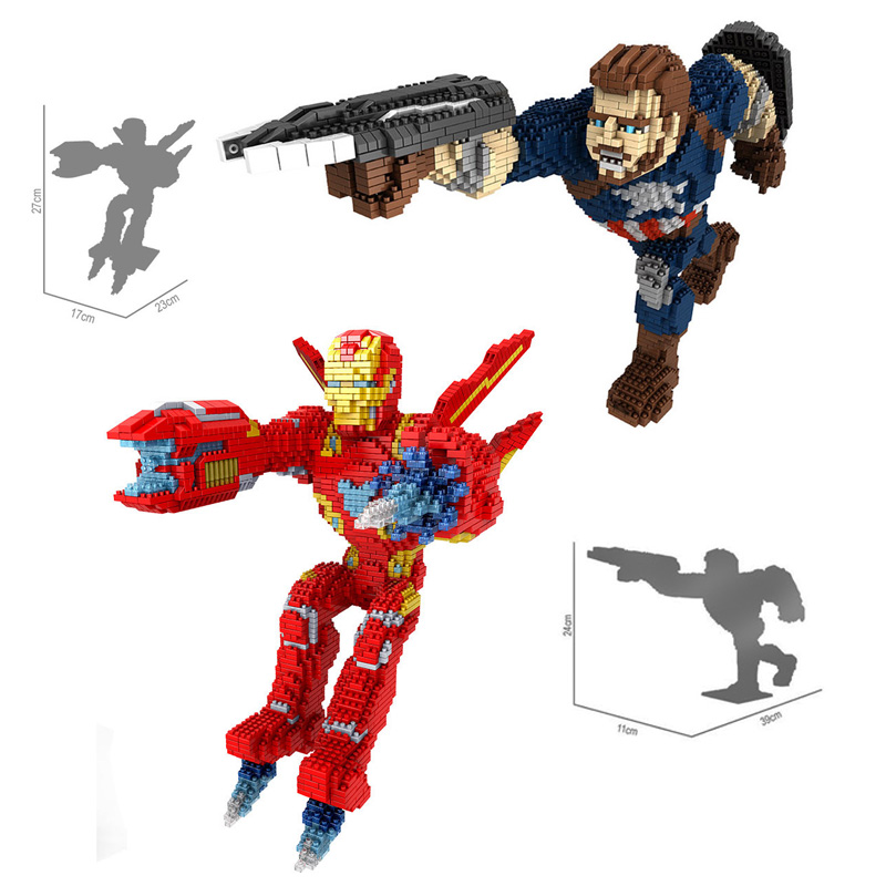 movie super heroes marvel avenger nanoblock Infinity War mk50 ironman captain america micro diamond stack block model toys brick ampeg micro cl stack