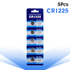 YCDC 5pcs Coin Cells Batteries CR1225 LM1225 BR1225 ECR1225 KCR1225 3V Lithium Button Cell Watch Coin Battery batteries