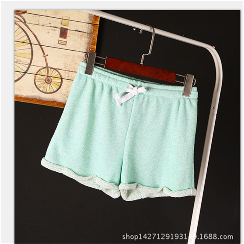 Summer New Women Elastic Waist Tunic Drawstring Elegant Beach Pocket Cuffs Casual Brand Shorts 13