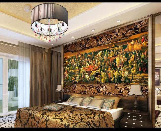 Aliexpress Buy Hundreds Of World Famous Great HD TV Background Wall Mural Paintings Painting The Living Room Bedroom Study Paper 3D Wallpaper From