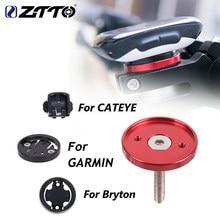 Ztto mtb bicicleta de estrada titular do computador stem tampa superior cronômetro gps ultraleve montar para garmin bryton cateye