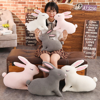 40/55cm Large Size Soft Hugging Rabbit Plush Toy Stuffed Animal Bunny Pillow Placating Toys For Children