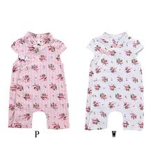 0f4d1a0bd0b9 Newborn Baby Chinese Style Romper Summer Baby Girl Siamese short-sleeved  Cheongsam Rompers 1(