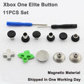 for XBOX ONE Elite Controller 11Pcs Metal Swap Thumbsticks Grips Stick and D-Pad Button Set