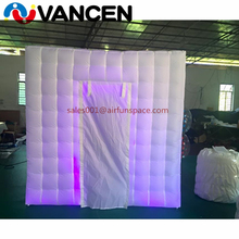 VANCEN inflatable tent photo booth wholesale white inflatable cube tent with led light party used led inflatable photo booth