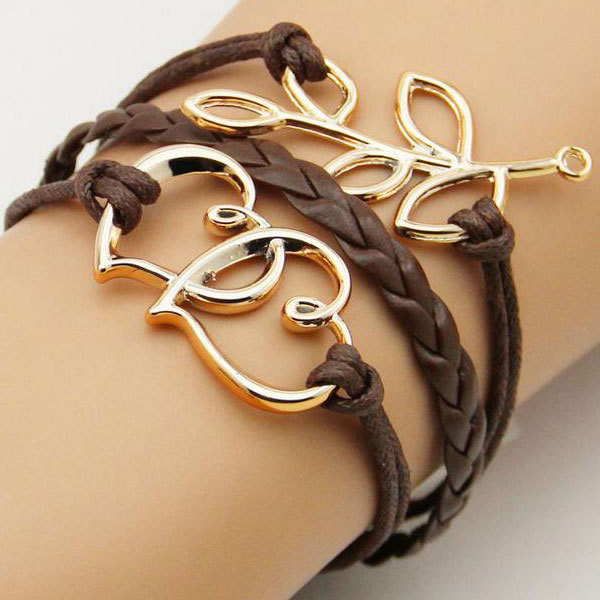 Handmade Braided Fashion Jewelry Leather Bracelet Men Anchor Bracelets For Women Best Friend Gift Free Shipping In Charm From