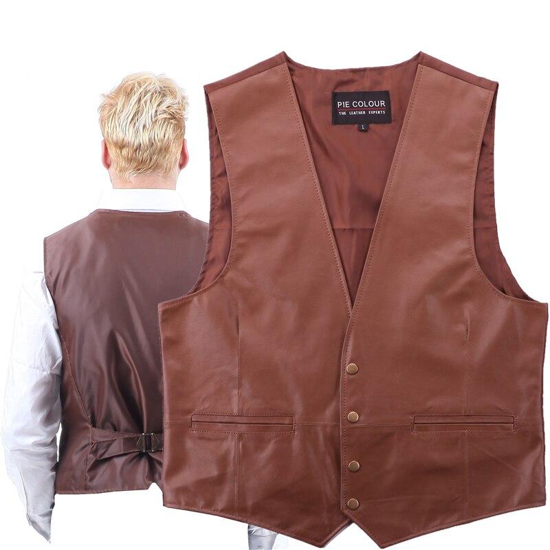 Vest Western-Cowboy Waistcoat Motorcycle Genuine Classic Retro Environmental-Protection