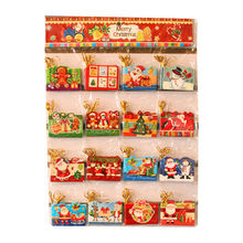 Благословение санта-клаус елка рождественская открытка праздник висячие открытки сообщение рождественские карты