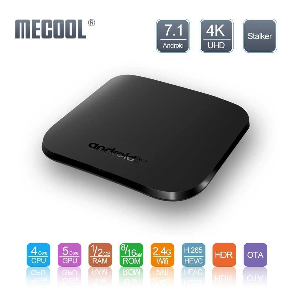 Mecool M8S Plus W Smart TV Box Set Top Box 2G + 16G Amlogic S905W Quad Core Smart rumah Set Top Box 4K 2.4Gwifi Media Player