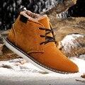 Tamanho EUA Mens Alinhado Pele Martin Neve Botas Chukka Casuais de Algodão Inverno Sapatos de Trabalho