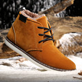 US SIze Mens Casual Fur Lined Martin Snow Ankle Boots Chukka Cotton Winter Work Shoes