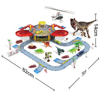 Baby Puzzle DIY Model Kit Double Track Racing Dinosaur Miniature House Casino Toy Children's Educational Creative Toys