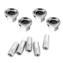 4Pcs M10 Bicycle Axle Track Nut and Presta Valve Cap Dust Cover  Parts Bike Accessories for MTB Road Mountain Hub