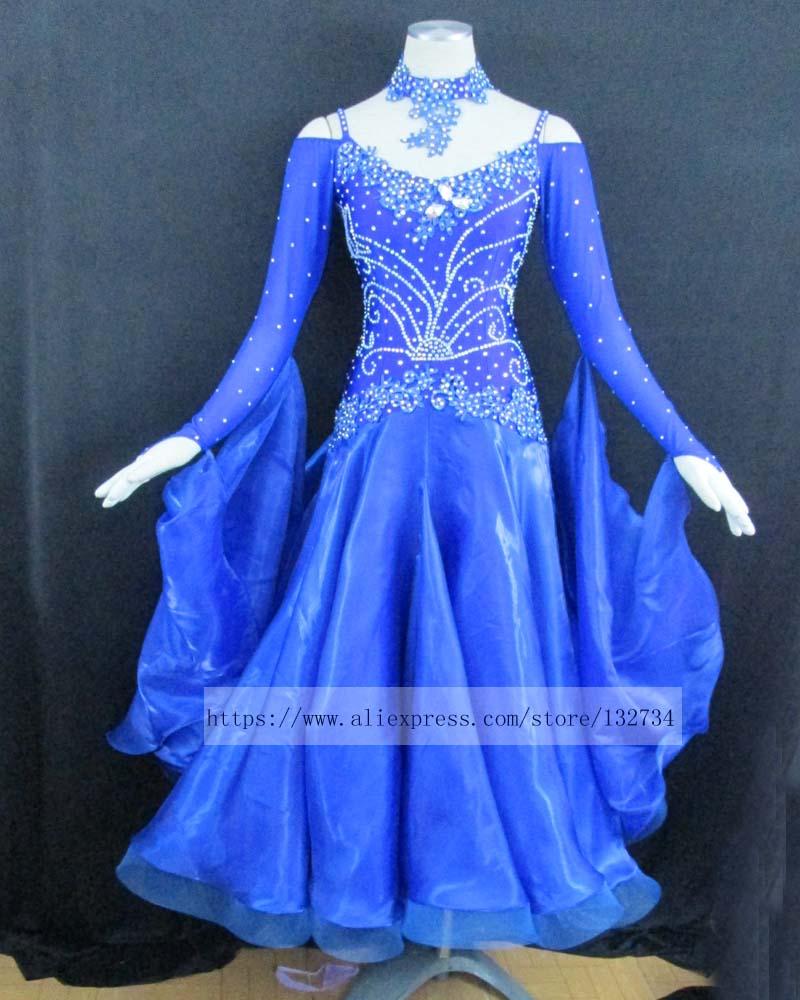 Moderna obleka za plesni ples Waltz Tango, gladka plesna obleka, - Odrska in plesna oblačila