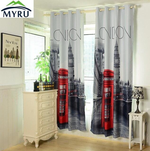 Online Shop MYRU 1.4x2.6m 3D british curtains cheap bedroom ...