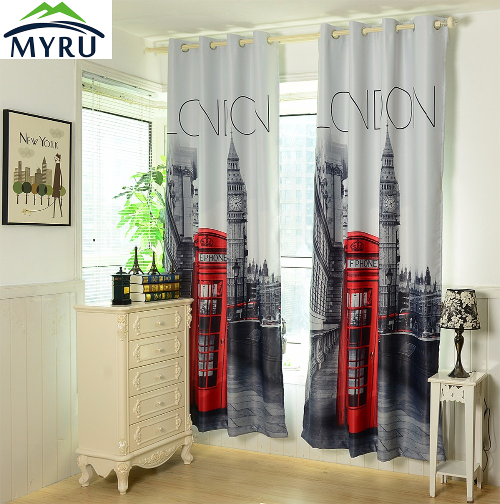 Blackout curtains for bedroom - Myru 1 4x2 6m 3d British Curtains Cheap Bedroom Curtains Uk London Blackout Curtains Free