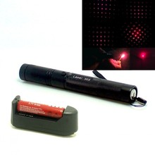 Red Lazer Pointer Laser 303 200mW 650nm Red Laser Pointer Adjustable Focal Length + 18650 3000Mah battery and charger