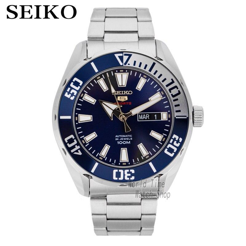 Reloj seiko para hombre 5 reloj automático de marca de lujo impermeable reloj de pulsera deportivo fecha relojes de hombre reloj de buceo-in Relojes deportivos from Relojes de pulsera    1