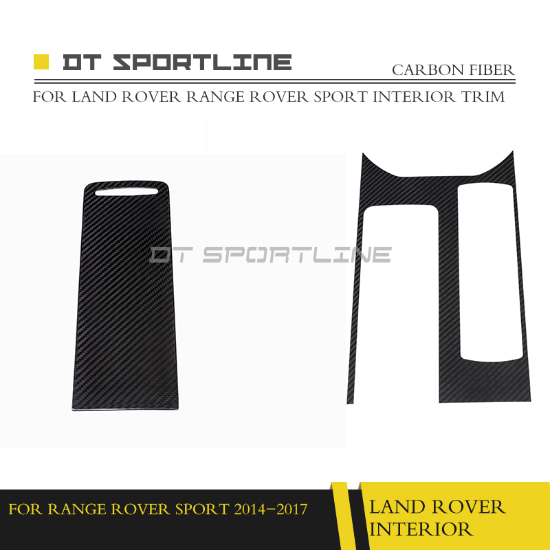 US $980 0 |100% Real Carbon Fiber Interior Trim For Land Rover Range Rover  sport style Dashboard Kit Trim 2014 2017 Auto Styling-in Interior Mouldings