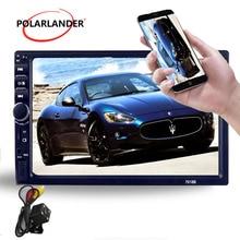 7 Bluetooth TF USB Aux in Multimedia 2 DIN Car font b Radio b font Car