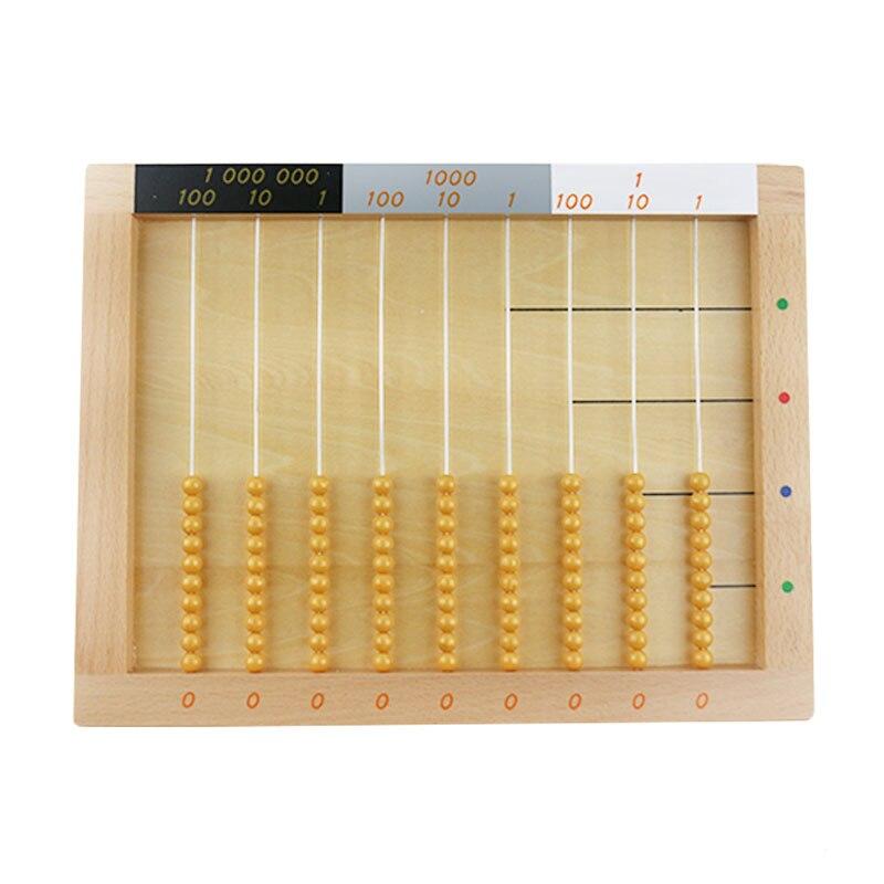 Montessori mathématiques jouets plat perle cadre début éducatif Montessori mathématiques jouet préscolaire mathématiques Montessori matériaux UC0465H