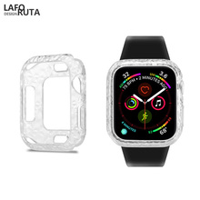 Laforuta TPU Bumper For Apple watch Case 44mm 40mm iWatch Series 4 Protector Cover Silicone Diamond Pattern Shell