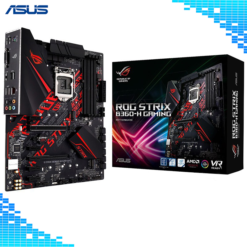 Asus ROG STRIX B360-H GAMING Desktop Motherboard Intel B360 LGA 1151 E-sports Game