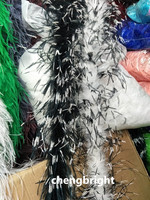 Wholesale 2m High Quality 4layer Natural Ostrich Feather Boa Decoration Stage Performance Clothing Accessories Wedding Two