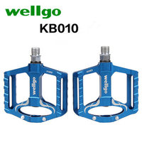 Wellgo KB010 6 Color Outdoor Cycling Pedals Ultralight Pedals Bicycle Cleats Aluminum Alloy Mtb Mountain Road