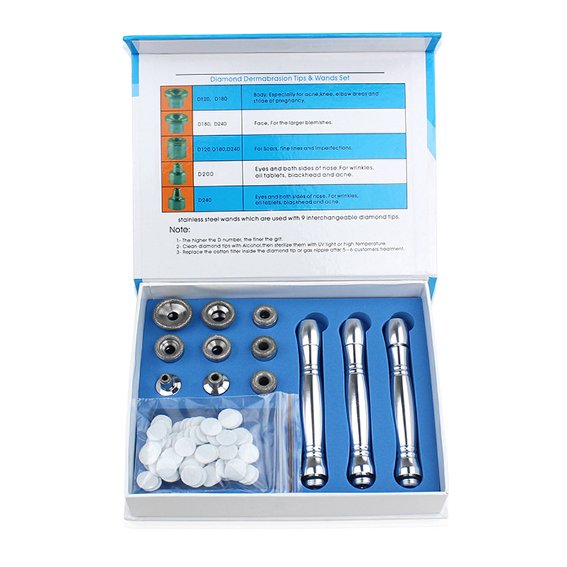 Parts Diamond Microdermabrasion Dermabrasion Replacement Accessories  For Facial Peeling Face Skin Care 3 Wands 9 Tips