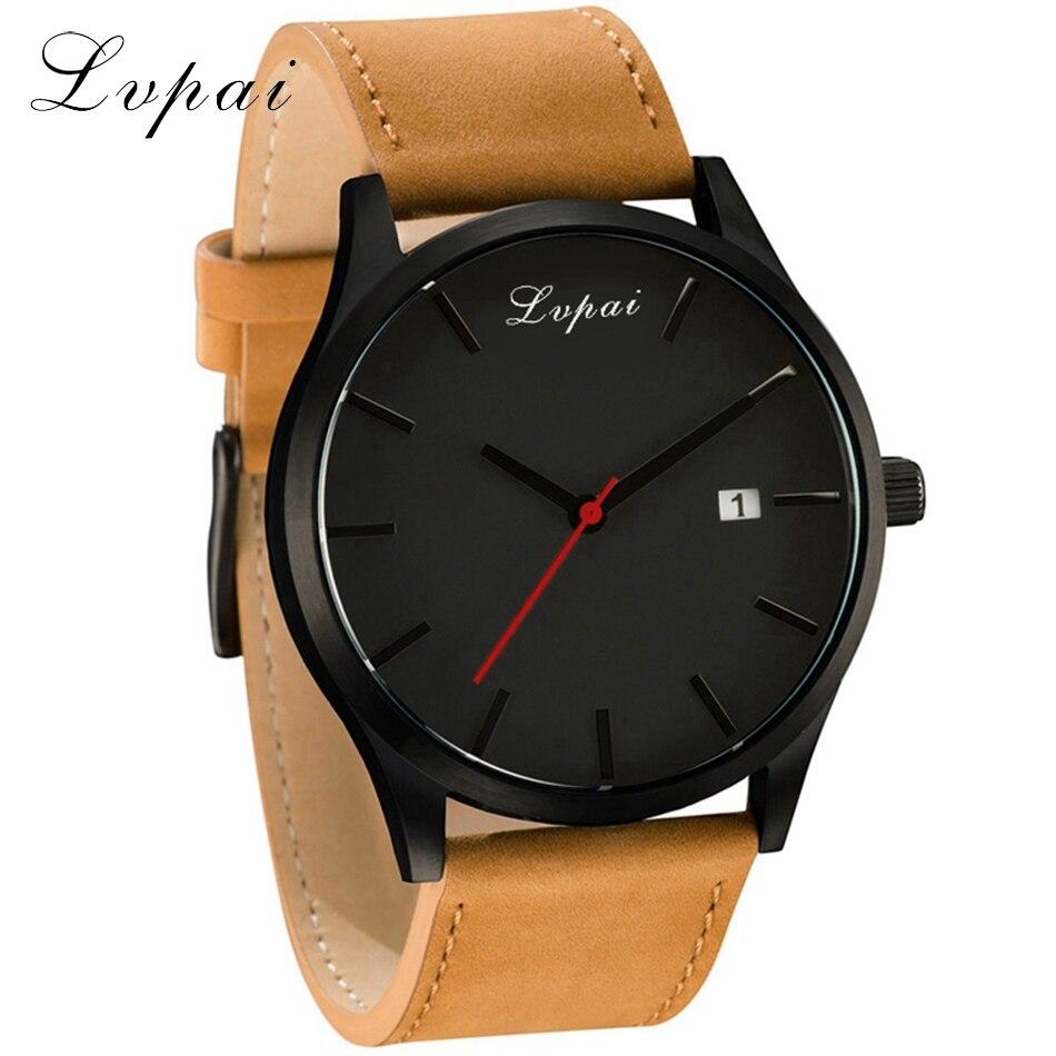 2017 New Lvpai Brand Leather Watch Men Fashion Luxury Women Dress Sport Wristwatch Ladies Dress Business Quartz Watch LP031