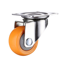 4pcs 1.25 inches 32mm Heavy Duty 80kg Orange Swivel Castor Wheels Trolley Furniture Caster Rubber 4pcs a set of heavy duty 125x27mm rubber swivel castor wheels trolley caster brake 100kg replacement fixed caster for diy home