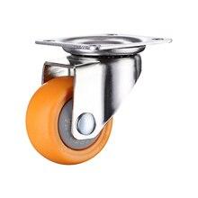 4pcs 1.25 inches 32mm Heavy Duty 80kg Orange Swivel Castor Wheels Trolley Furniture Caster