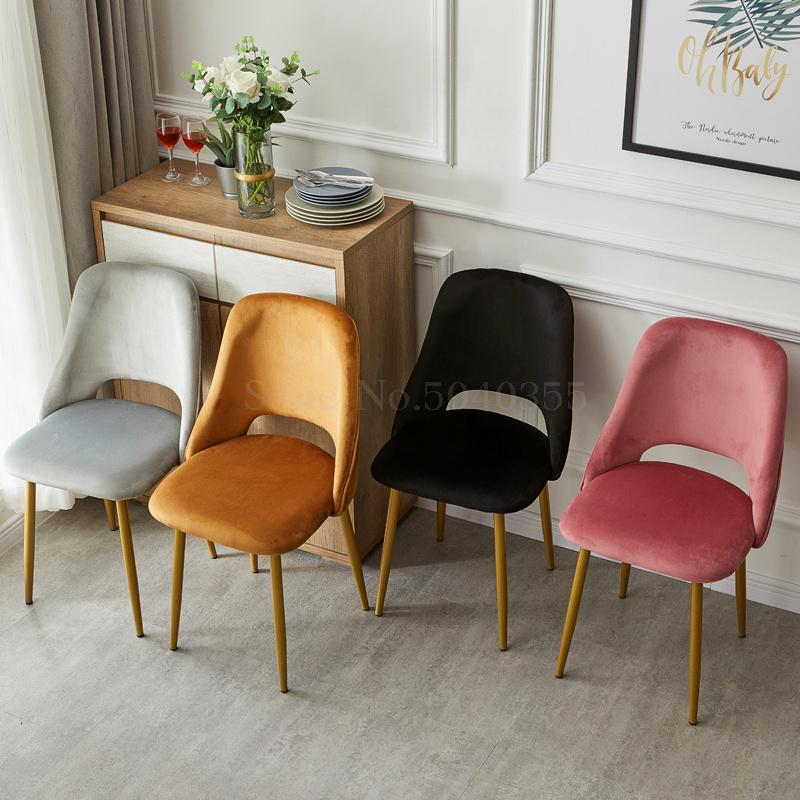 Home Back Dining Chair Modern Minimalist Stool Subnet Red Casual Light Luxury Desk Chair Parlor Chair Makeup Chair