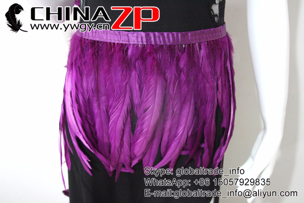 purple Rooster Tail Feather Fringe Trim (4)