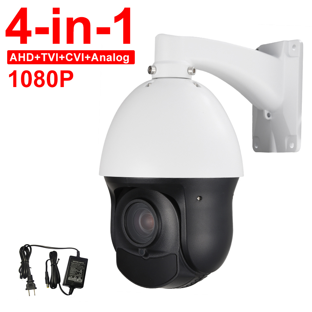 Outdoor 4 MINI Full HD 1080P AHD CVI TVI CVBS 4in1 High Speed PTZ Camera 4-in-1 20X Optical Zoom Auto Focus Day Night 100M ccdcam 4in1 ahd cvi tvi cvbs 2mp bullet cctv ptz camera 1080p 4x 10x optical zoom outdoor weatherproof night vision ir 30m