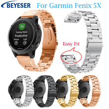 Metal Stainless Steel watchband For Garmin Fenix 5X/5X Plus Replacement Watch strap for Garmin Fenix 3/Fenix 3HR easy fit band quick easy fit genuine leather watchband 26mm for garmin fenix 5x 3 3hr watch band stainless steel clasp strap wrist bracelet