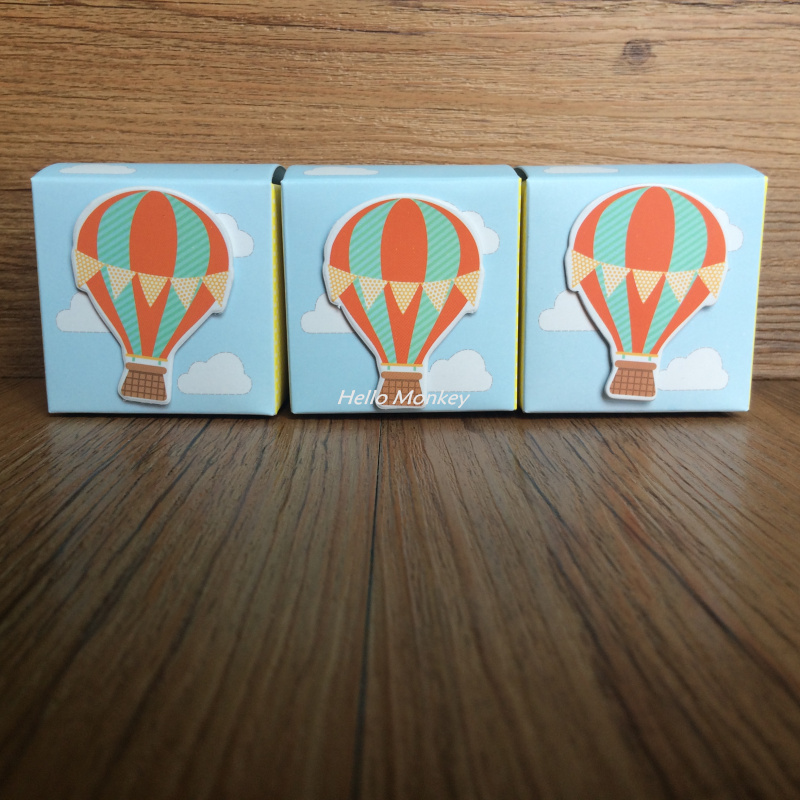 """Free Shipping 30PCS """"Up, Up and Away"""" Hot Air Balloon Wedding Candy Favor Box Baby shower Gifts birthday party decorations kids"""