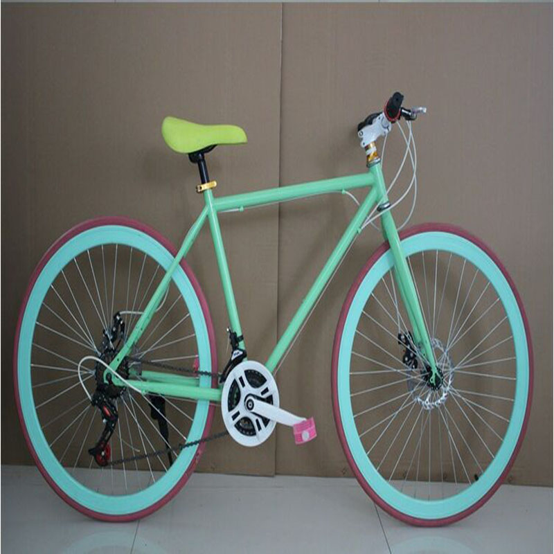 26 Inch Road Bicycle 24 Speed Double Disc Brake Colorful D I Y Custom Made Men And Women Sports And Entertainment Lightweight