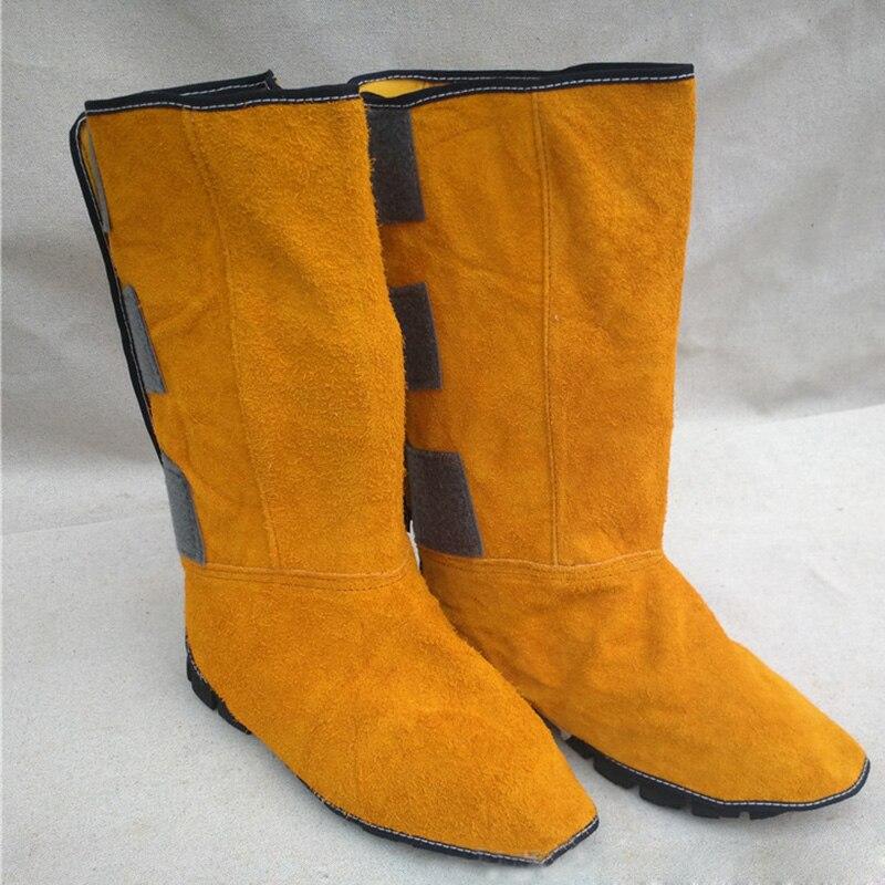 Les chaussures en cuir de soudure couvrent les Foots de soudeur de lieu de travail couverture protectrice ignifuge couverture résistante à l'usure Anti-chaleur pour souder
