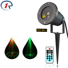 ZjRight IR Remote Red Green laser light Outdoor garden gala party 20 patterns projection  effect light Bar dj disco stage lights