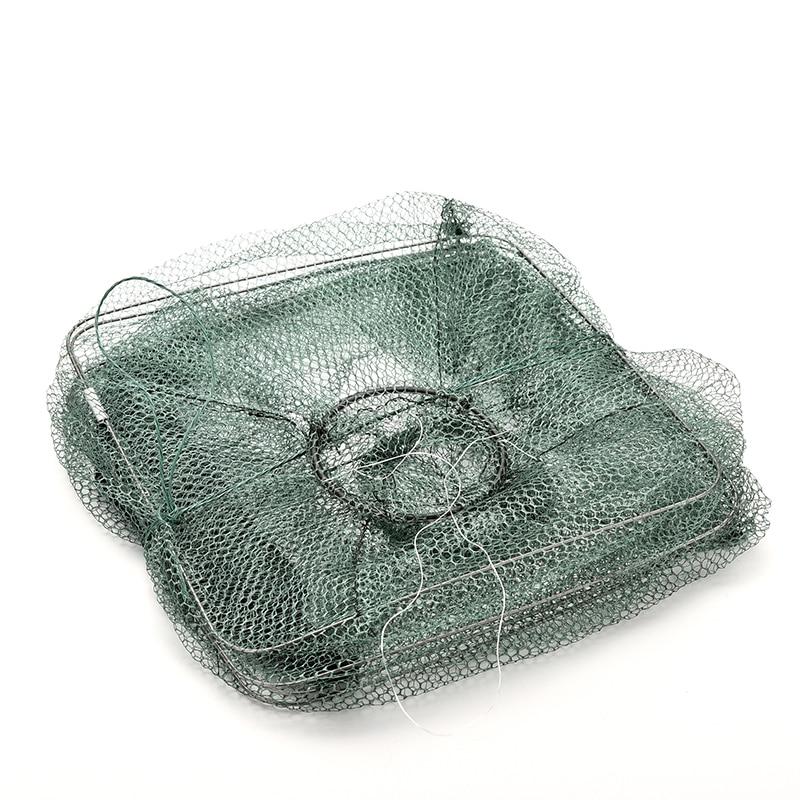 1 adet katlanabilir naylon balık ağı yakalamak yengeç balık Crawdad karides Minnow örgü kafes balıkçılık Bait tuzak Cast Dip Drift Shrimping Net