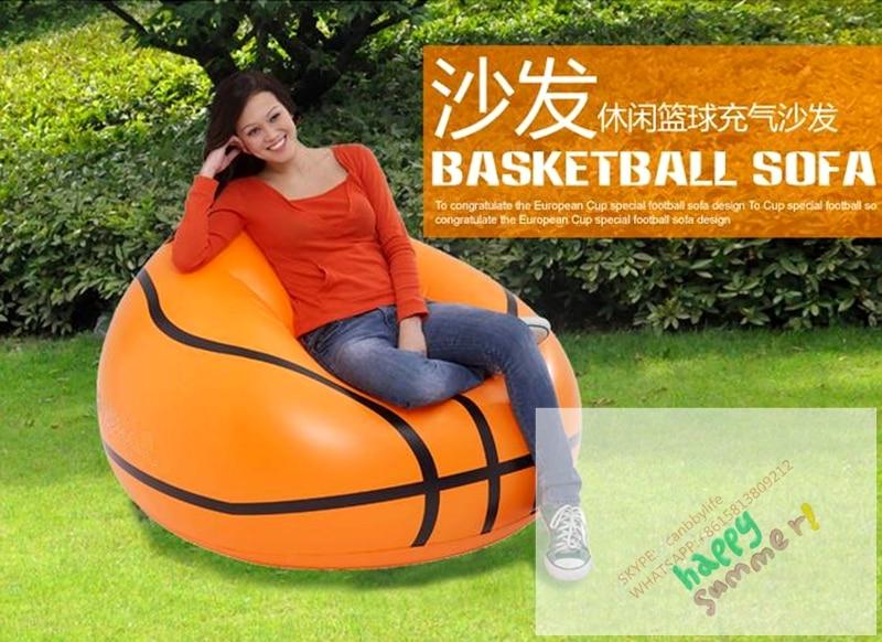 Charmant Basketball Shape Sofa Chair Inflatable Basketball Bean Bag Chair /relax  Inflatable Football Basketball Chair Outdoor Indoor  In Camping Mat From  Sports ...