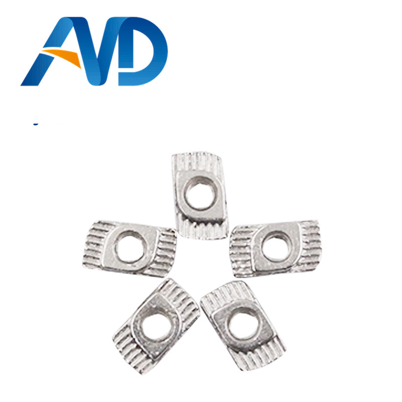 20PCS M3 M4 M5 Hammer Nut Aluminum Connector T Fastener Sliding Nut Nickel Plated Carbon Steel For 2020 Aluminum Profile