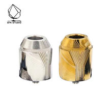Original AFK STUDIO THE WHITE WALKERS RDA Easy Dual Coil Building Dripping Atomizer 30mm Diameter Vape Tank Vs Drop Dead RDA(China)