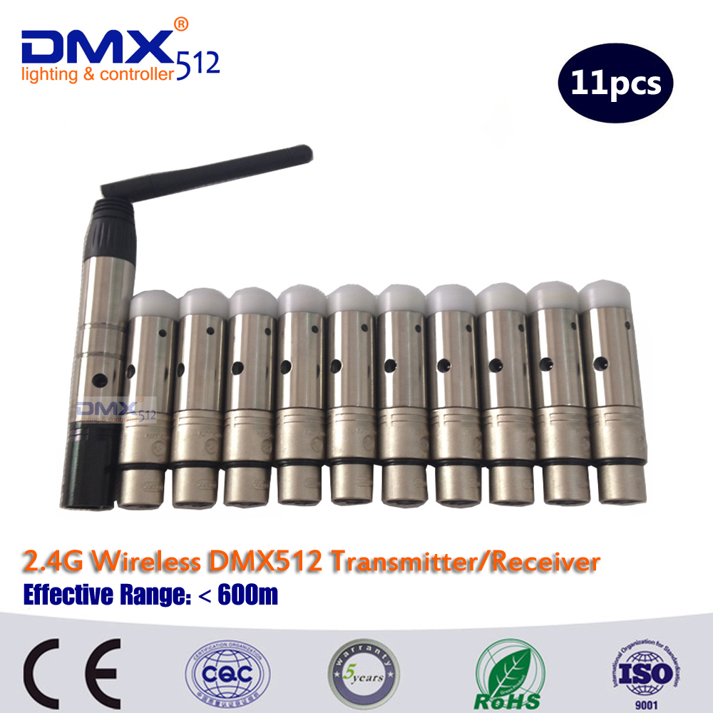 DHL Free Shipping 11PCS/lot  wireless 2.4ghz 1pcs transmitter and 10pcs receiver 10pcs lot hot sale free dhl shipping white and black 100
