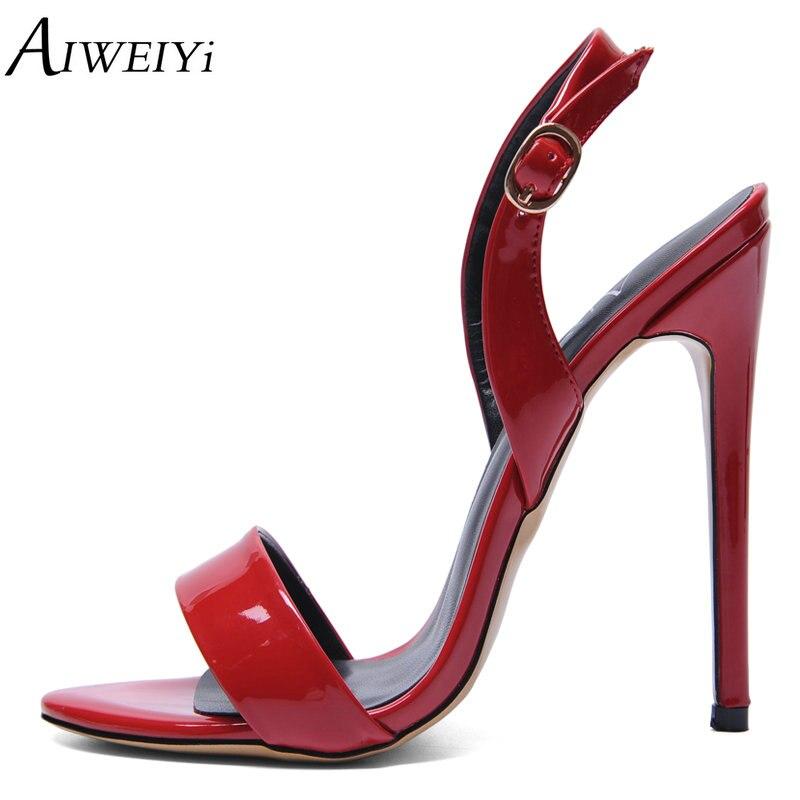 AIWEIYi Gladiator Sandal Shoes for Women Summer Stiletto Heel Sandals Open toe Platform Pumps Buckle Strap High Heel Sandals summer causal open toe buckle high heeled thick waterproof platform sandals for women