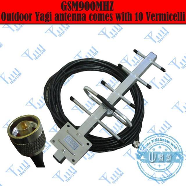 Free shipping,Yagi Antenna 5Units 8dBi 824-960MHz Yagi Antenna GSM/900MHz GSM/CDMA/850Mhz booster repeater Yagi Antenna