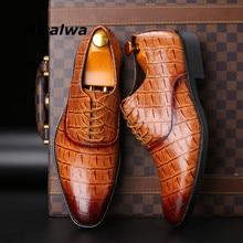 Misalwa classique hommes chaussures pour mariage marque PU cuir costume facile à porter hommes bout pointu chaussures à lacets affaires robe formelle chaussures