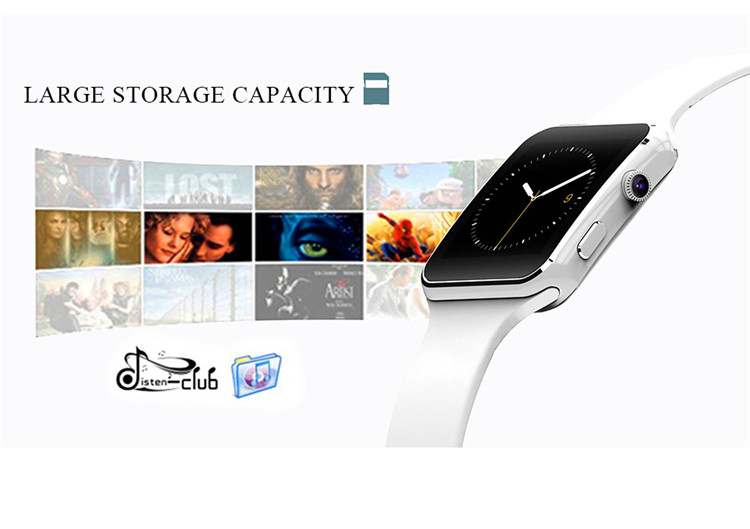 Fashion Black Sport Bluetooth Smart Watch For Android IOS Phone Call SIM Card Intelligent Watches 1.54\'\' HD LCD OGS Touch Screen (4)